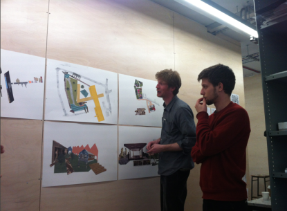 The Cass: collage workshop with the students and the architecture students